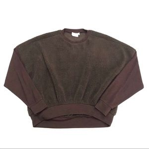 Urban Outfitters Brown Teddy Fleece Sweatshirt
